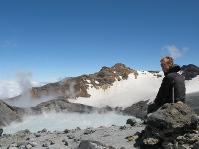 Chris on Mt Ruapehu